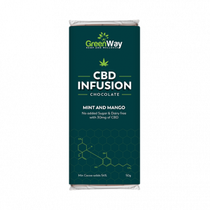 CBD Dark Chocolate Mint Mango 50g